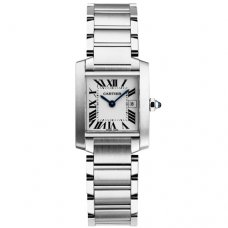 Cartier Tank Francaise Medium Stahl uhr Replik W51011Q3
