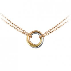 Sweet Trinity de Cartier 3-gold necklace replica B7218200 pink gold chain