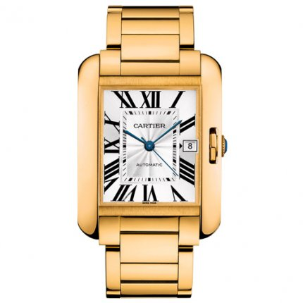 Cartier Tank Anglaise extra large replica watch for men W5310018 18K yellow gold