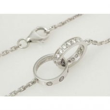 Cartier Love imitation white gold diamond necklace B7013700