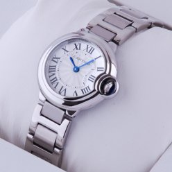 Ballon Bleu de Cartier small quartz watch replica stainless steel