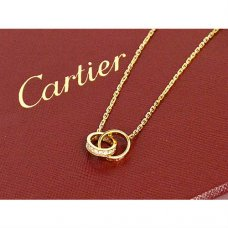 Cartier Love imitation yellow gold diamond necklace B7013800