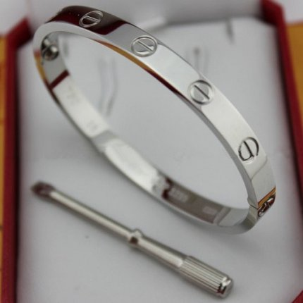 Cartier Love white gold bracelet imitation with screw driver B6035416