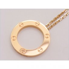 Cartier Love replica pink gold necklace B7014400 with pendant