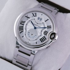 Ballon Bleu de Cartier W6920011 two timezone GMT large watch replica stainless steel