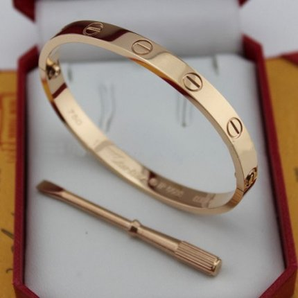 Cartier Love pink gold bracelet replica with screw driver B6035616