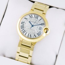 Ballon Bleu de Cartier medium swiss automatic watch replica 18kt yellow gold