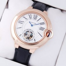 Ballon Bleu de Cartier Flying Tourbillon extra large watch W6920001 18K pink gold leather strap