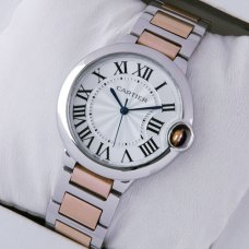 Ballon Bleu de Cartier medium quartz watch two-tone 18kt pink gold and steel