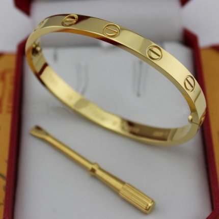 Cartier Love yellow gold bracelet imitation with screw driver B6035516
