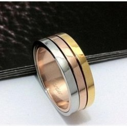 Trinity de Cartier 3-gold wedding band replica B4052100