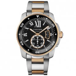 Calibre de Cartier Diver replica watch W7100054 two-tone pink gold and steel