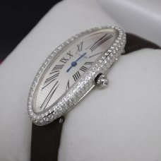 Cartier Baignoire swiss diamond watch for women 18K white gold