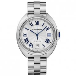 Clé de Cartier 40mm 18K white gold imitation watch for men WGCL0006
