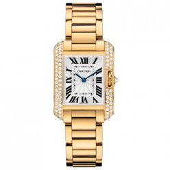 Cartier Tank Anglaise small diamond watch for women WT100005 18K yellow gold