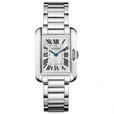 Cartier Tank Anglaise small replica watch for women W5310023 18K white gold