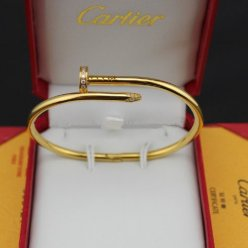 Replica Cartier Juste un Clou diamond bracelet in yellow gold
