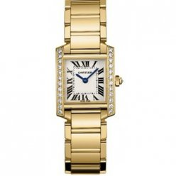 Cartier Tank Francaise diamond watch for women WE1001R8 yellow gold