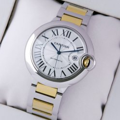 Ballon Bleu de Cartier W69009Z3 large watch replica two-tone 18K yellow gold and steel