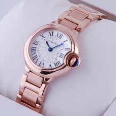 Ballon Bleu de Cartier small quartz watch replica 18kt pink gold