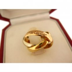 Trinity de Cartier 3-gold replica ring small model B4086100