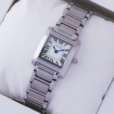 Cartier Tank Francaise womens steel watch replica W51008Q3