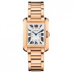 Cartier Tank Anglaise small replica watch for women W5310013 18K pink gold