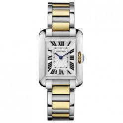 Cartier Tank Anglaise small watch for women W5310046 two-tone yellow gold and steel