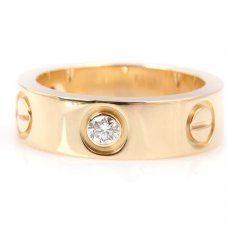 Cartier Love imitation yellow gold ring B4032400 with three diamonds