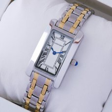 Cartier Tank Americaine small watch replica two-tone 18K yellow gold and steel