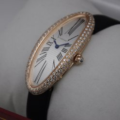 Cartier Baignoire swiss diamond watch for women 18K pink gold