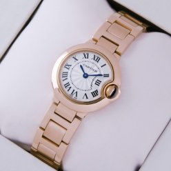 Ballon Bleu de Cartier small swiss quartz watch W69002Z2 replica 18kt pink gold