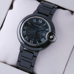 Ballon Bleu de Cartier medium black ceramic watch replica