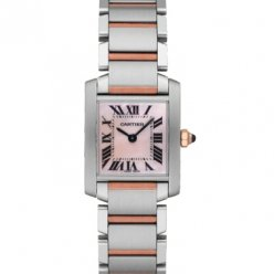 Cartier Tank Francaise womens watch W51007Q4 two-tone pink gold and steel