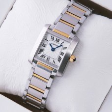 Cartier Tank Francaise womens watch W51007Q4 two-tone yellow gold and steel