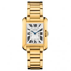 Cartier Tank Anglaise small replica watch for women W5310014 18K yellow gold