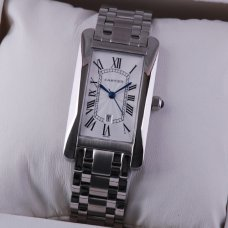 Cartier Tank Americaine 18K white gold midsize watch for men and women
