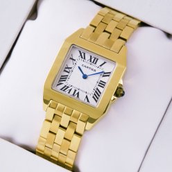 Cartier Santos Demoiselle midsize imitation watch 18K yellow gold