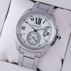 Calibre de Cartier automatic mens watch replica W7100015 stainless steel