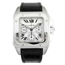 Cartier Santos 100 Chronograph XL swiss automatic mens watch replica W20090X8