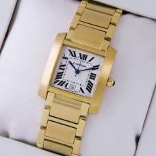 Cartier Tank Francaise mens watch imitation 18K yellow gold
