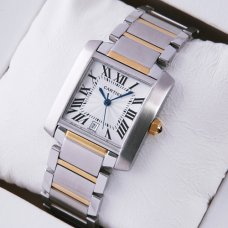 Cartier Tank Francaise W51005Q4 two-tone 18kt yellow gold and steel mens watch replica