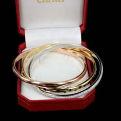 Trinity de Cartier 3-gold lacquer diamond bracelet N6037916 for women