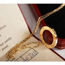 Cartier Love replica yellow gold necklace B7014200 with pendant