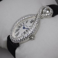 Cartier Baignoire swiss diamond ladies watch replica stainless steel