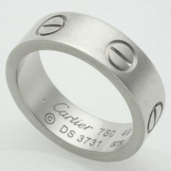 Cartier Love replique bague en or blanc B4084700