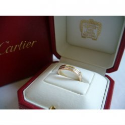 Trinity de Cartier-3 or bande de noces de diamant réplique B4052900