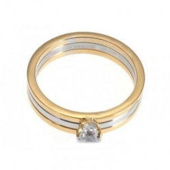 Trinity de Cartier 3-or bague en diamant Solitaire réplique N4204200