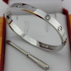 Cartier love or blanc Bracelet de diamants réplique avec B6035816 tournevis