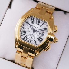 Cartier Roadster Chronograph 18K yellow gold imitation watch for men